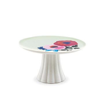 Salt & Pepper Willow New Bone China Footed Cake Stand 30 x 8cm Flute