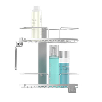 Better Living Bathroom FineLine 2 Tier Shower Caddy