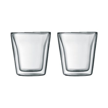 Bodum Canteen 100ml Double Wall Glass Set of 2