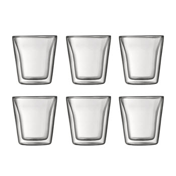 Bodum Canteen Double Wall Glasses 100ml 6 Piece Set