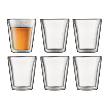 Bodum Canteen Double Wall Glasses 200ml 6 Piece Set