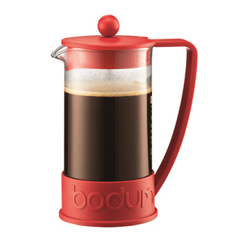 Bodum Brazil French Press Coffee Maker 8 Cup Red
