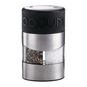 Bodum Twin Manual Salt & Pepper Grinder Black