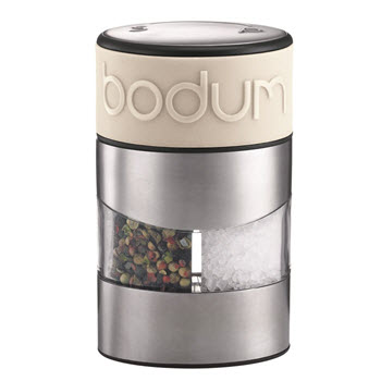 Bodum Twin Manual Salt & Pepper Grinder Off White