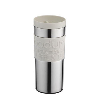 Bodum 350ml Vacuum Travel Mug White
