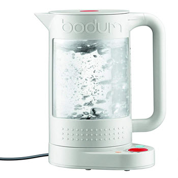 Bodum Bistro Electric Double Wall Water Kettle with Temperature Control 1.1L White