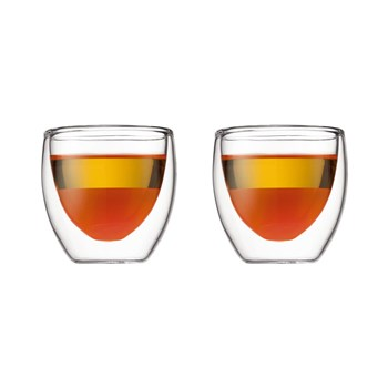 Bodum Pavina 80ml Double Wall Glass Set of 2