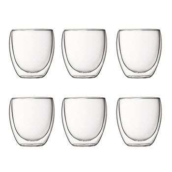 Bodum Pavina Double Wall Glasses 250ml 6 Piece Set