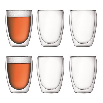 Bodum Pavina Double Wall Glasses 350ml 6 Piece Set
