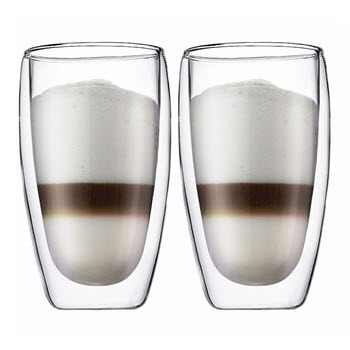 Bodum Pavina 450ml Double Wall Glass Set of 2