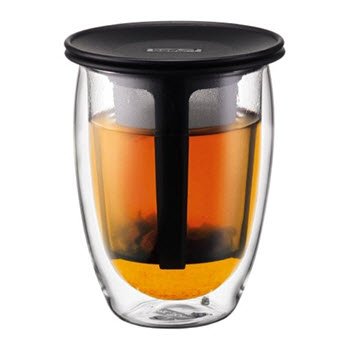 Bodum Tea For One 350ml Double Wall Glass & Strainer