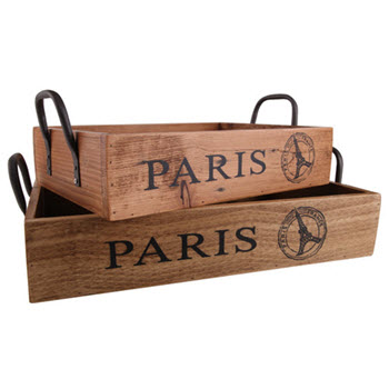 Ethos Reclaimed Set of 2 Wood Crates