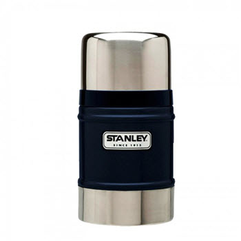 Stanley Classic 502ml Vacuum Food Flask Hammertone Navy