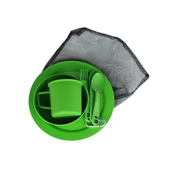EcoSouLife Bamboo Camper Set Green