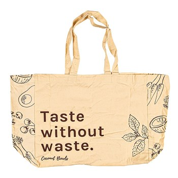 Coconut Bowls Taste Without Organic Cotton Reusable Grocery Tote Bag