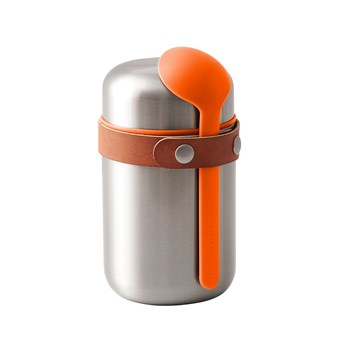 Black & Blum Stainless Steel Food Flask 400ml Orange
