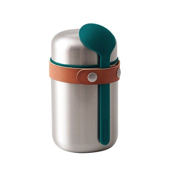 Black & Blum Stainless Steel Food Flask 400ml Ocean Blue