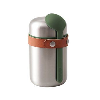 Black & Blum Stainless Steel Food Flask 400ml Olive Green
