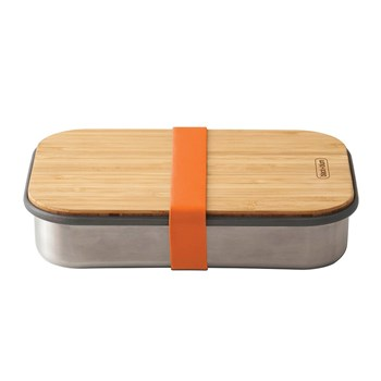 Black & Blum Stainless Steel & Bamboo Sandwich Box 900ml Orange