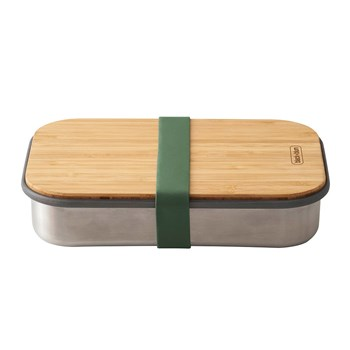 Black & Blum Stainless Steel & Bamboo Sandwich Box 900ml Olive Green
