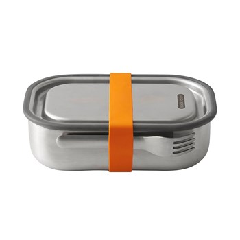 Black & Blum Stainless Steel Lunch Box with Fork 1L Orange