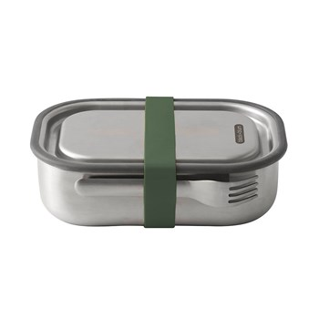 Black & Blum Stainless Steel Lunch Box with Fork 1L Olive Green