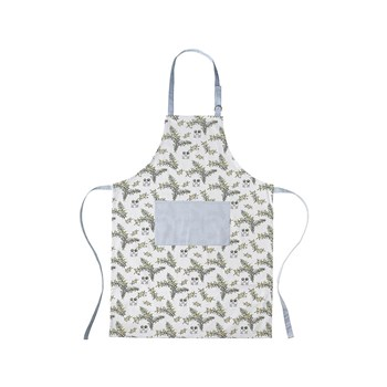Ecology May Gibbs Wattle Apron with Pocket White & Blue