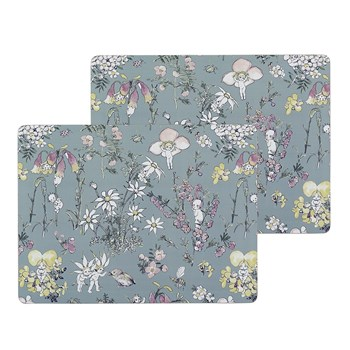 Ecology May Gibbs Flower Babies 2 Piece Large Cork Placemat Set