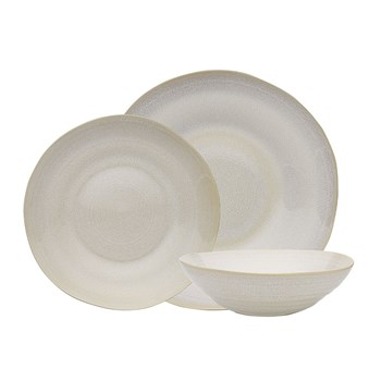 Ecology Heidi Stoneware 12 Piece Dinner Set White
