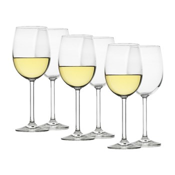 Ecology Classic Crystalline 6 Piece White Wine Glass Set 350ml Clear