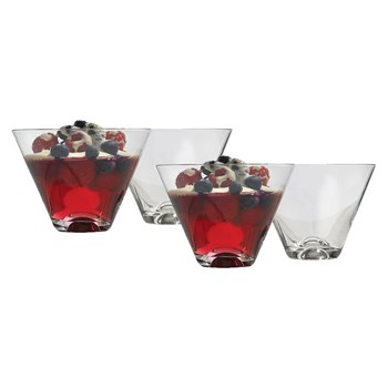 Ecology Crystal Glass 4 Piece Dessert V-Shape Glass Set 400ml Clear