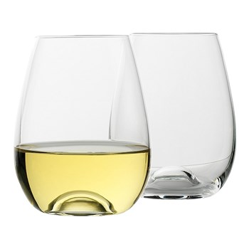 Ecology Crystal Glass 4-Piece Stemless White Wine Glass Set 460ml