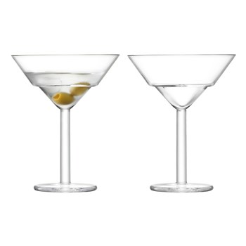 LSA Mixologist Glass 2 Piece Cocktail Martini Glass Set 230ml