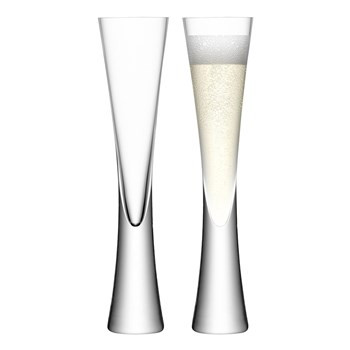LSA Moya 2 Piece Glass Champagne Flute Set 170ml