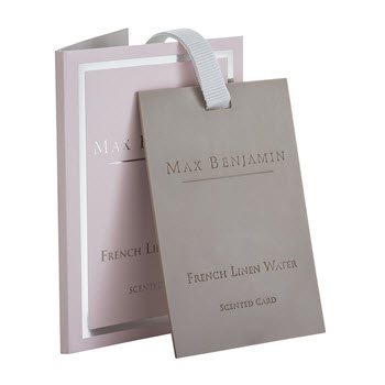 Max Benjamin Scented Cards French Linen Water