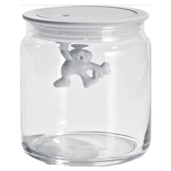 Alessi Gianni Glass Box Canister with Lid 700ml White
