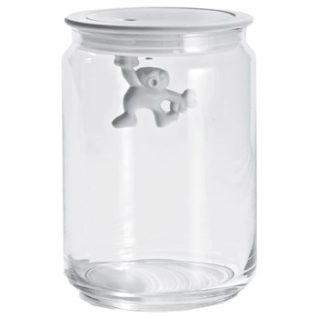Alessi Gianni Glass Box Canister with Lid 900ml White