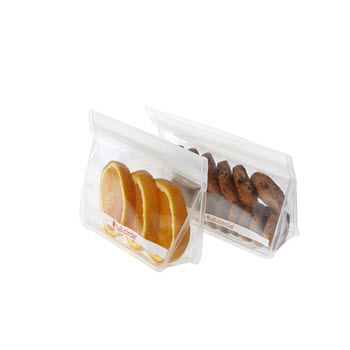 Full Circle Reusable Snack Bags Clear Set of 2