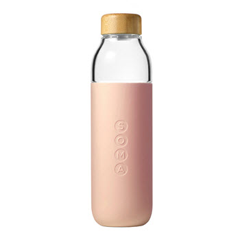 Soma Water Bottle Glass 470ml Blush