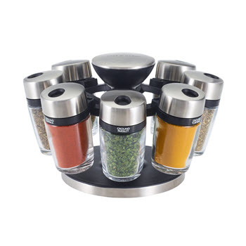 Cole & Mason Herb and Spice Jar Carousel - 8 Jar