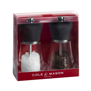Cole & Mason Napoli Salt and Pepper Mill Set Black