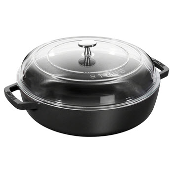 Staub Braiser with Glass Lid Black 28cm