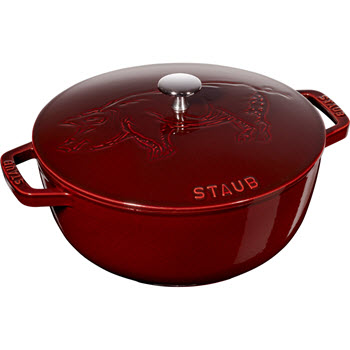 Staub French Chinese New Year Piggy Cocotte with Lid Grenadine Red
