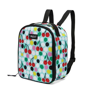 Packit Freezable Upright Backpack 22 x 12 x 26cm Cherry Dots