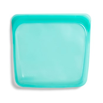 Stasher Platinum Silicone Sandwich Bag 450ml Aqua Blue