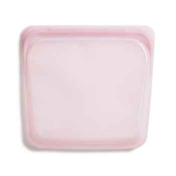 Stasher Platinum Silicone Sandwich Bag 450ml Rose Quartz