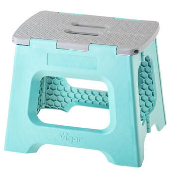 Vigar Foldable Stool Solid Colour SRT/6 27cm Turquoise