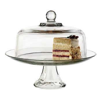 Anchor Hocking Presence Glass 2 Piece Cake Set 28.5cm