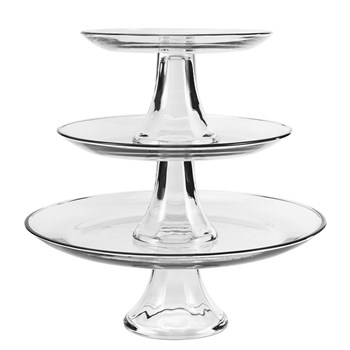 Anchor Hocking Presence 3 Piece Tiered Platter Set