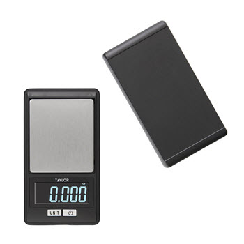 Taylor Stainless Steel & Plastic Digital Precision Diet Kitchen Scale 500g Black